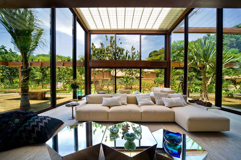 Terase din lemn for Modern houses with big windows